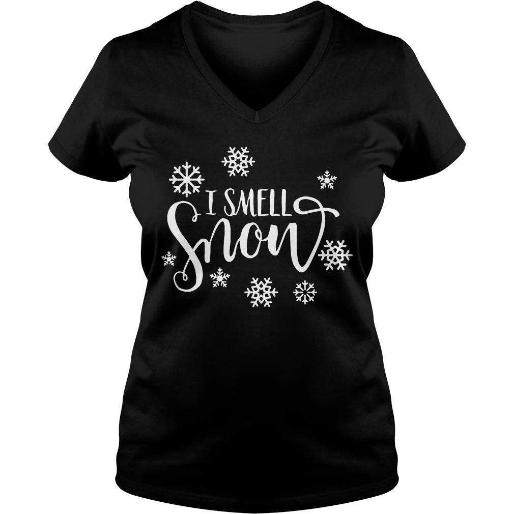 Snowfall Smell Snow Sweat Shirt Hoodie Sweater Longsleeve V Neck