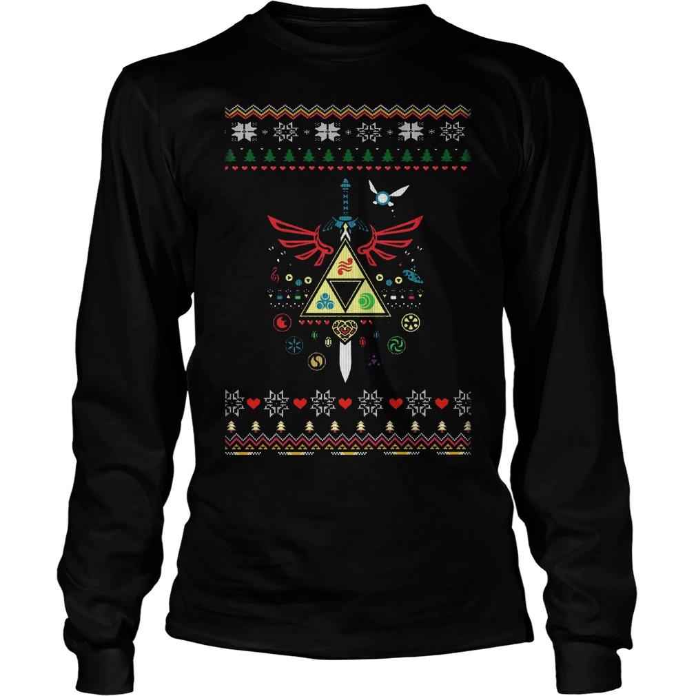 song christmas time legend zelda ugly christmas longsleeve - Legend Of Zelda Christmas Sweater