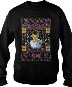 Strange Things Eleven Girl Christmas Ugly Sweat Shirt