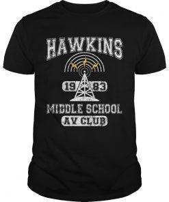 Stranger Things Middle School Hawkins Av Club Guys Tee