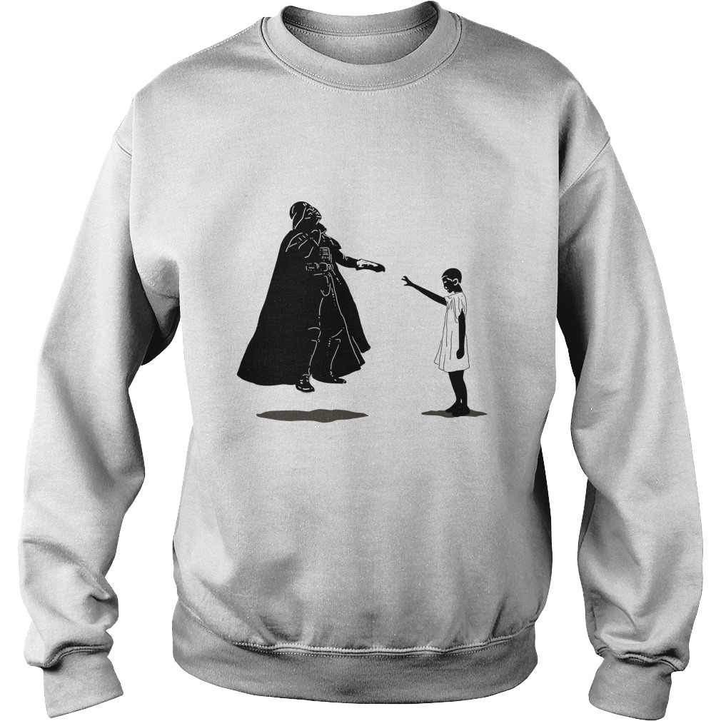 Stranger things vs star wars: eleven girl vs darth vader shirt, hoodie