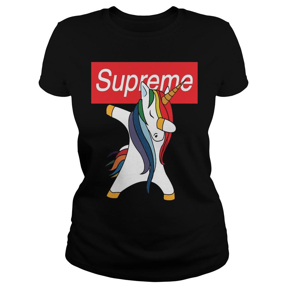 Supreme Unicorn Dabbing Ladies Tee