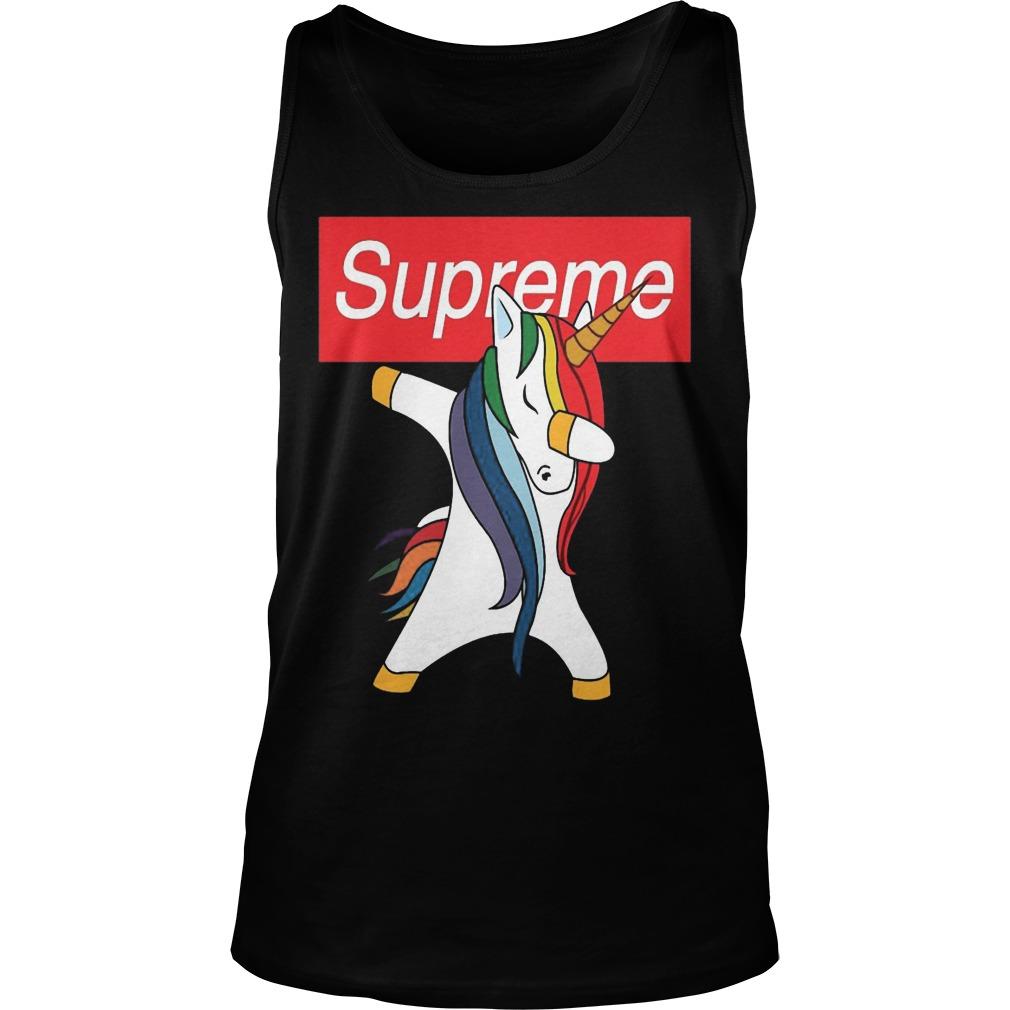 Supreme Unicorn Dabbing Unisex Tank Top