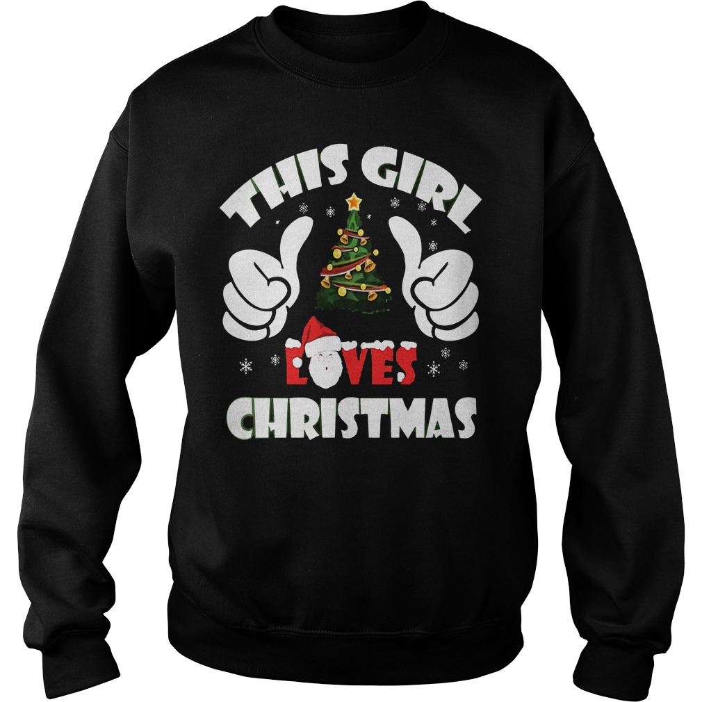 This Girl Loves Ugly Christmas Sweat Shirt