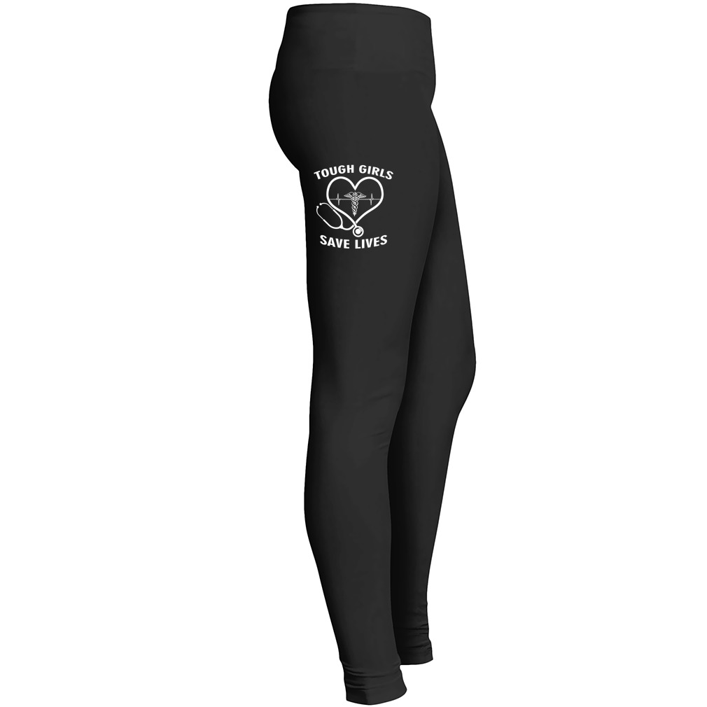 Tough Girls Save Lives Leggings