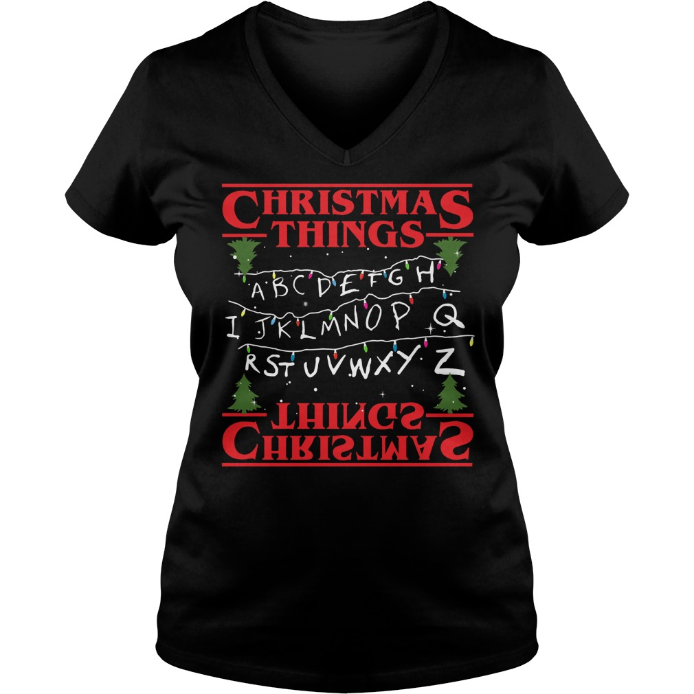 Ugly Christmas Things Ladies V Neck
