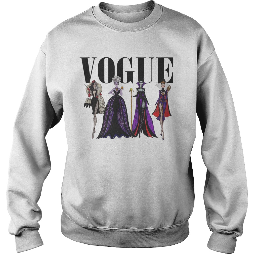 vogue disney villains evil divas paco chicano sweater. Black Bedroom Furniture Sets. Home Design Ideas