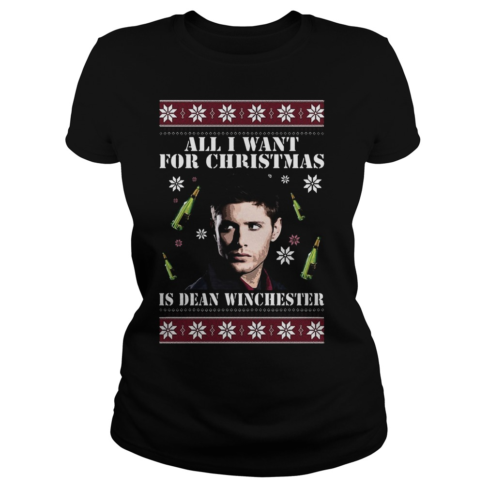 Want Christmas Dean Winchester Ladies Tee