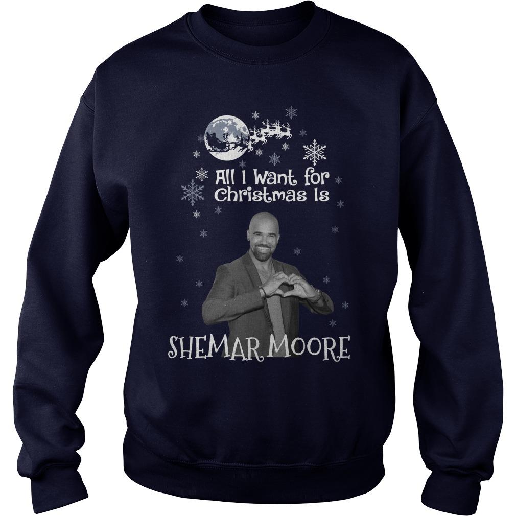 Want Christmas Shemar Moore Sweat Shirt