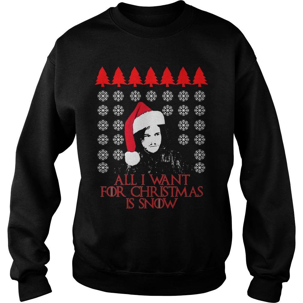 Want Christmas Snow Ugly Christmas Sweater