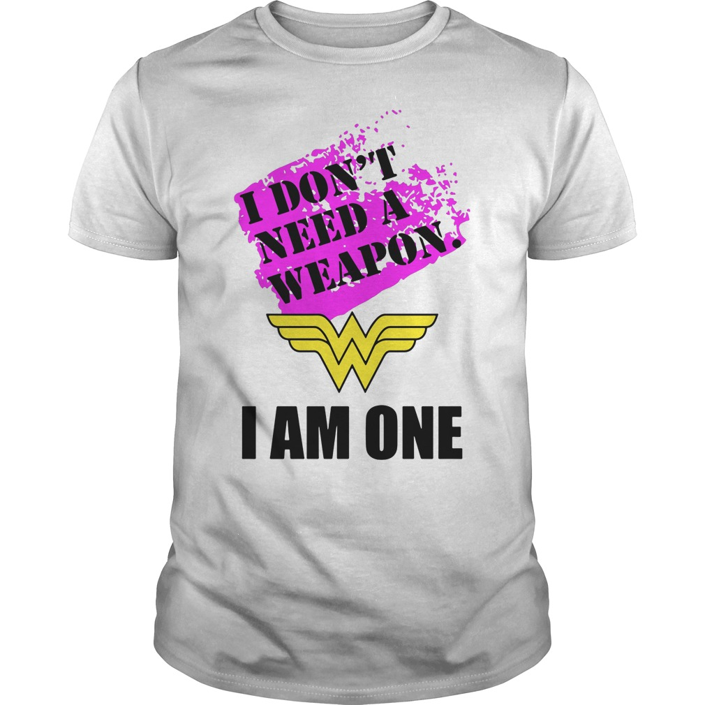 Wonder Woman Dont Need Weapon One Guys Tee