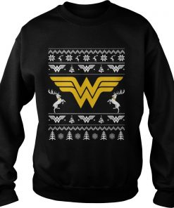 Wonder Woman Ugly Christmas Sweat Shirt