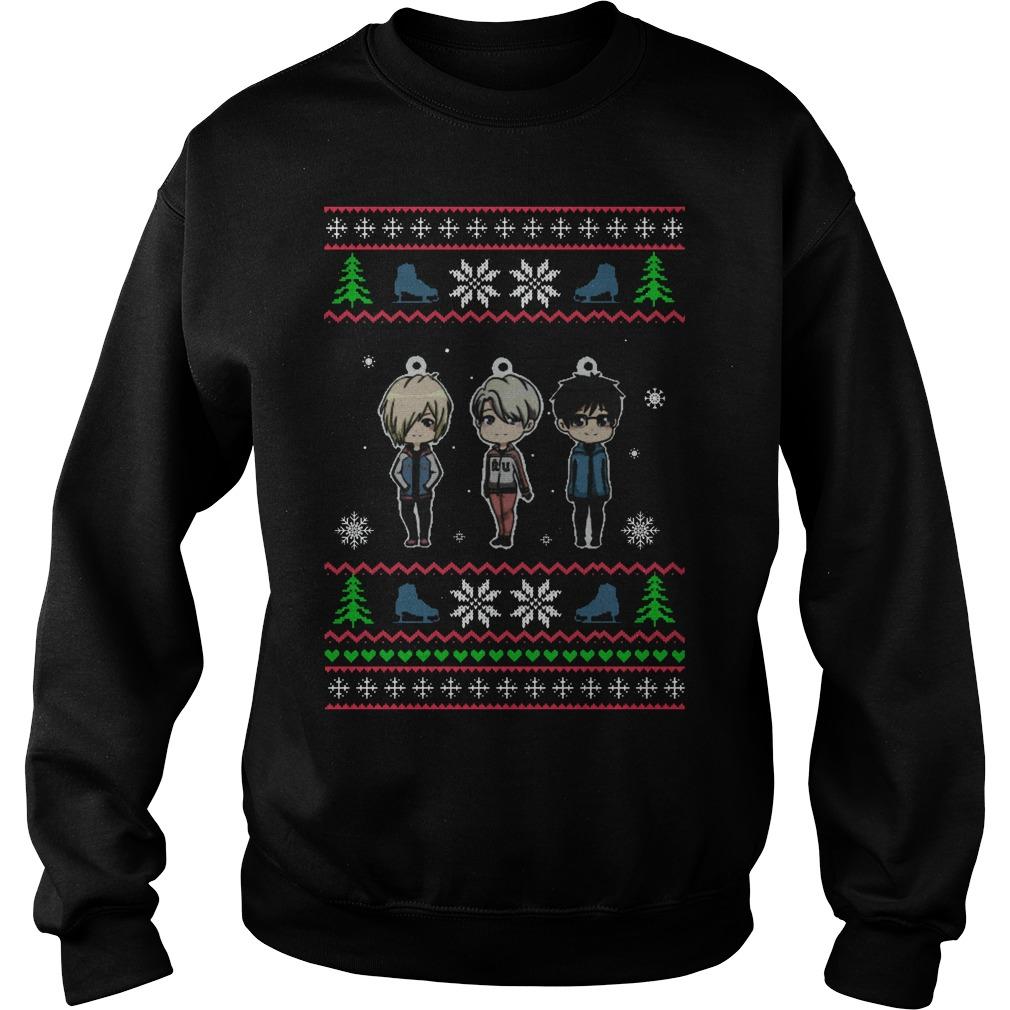 Yuri On Ice Ugly Christmas Sweat Shirt