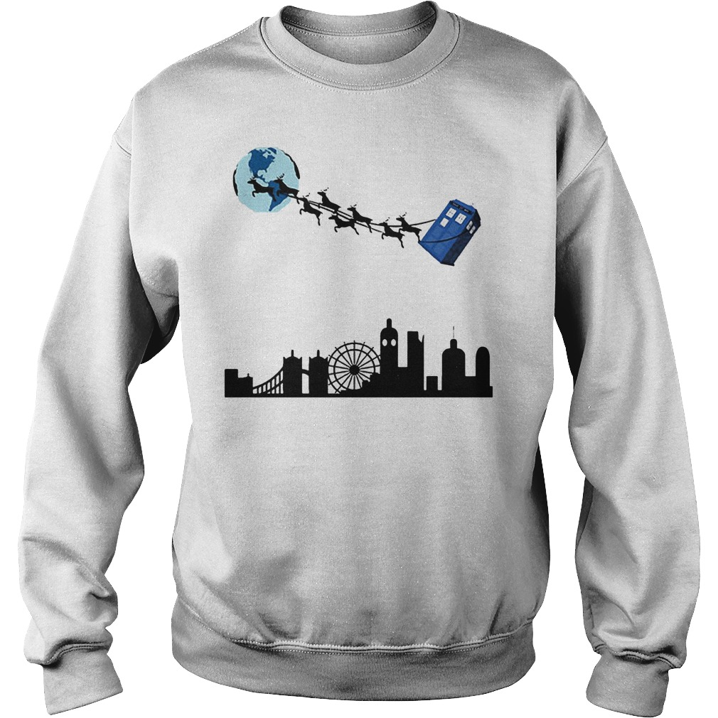 Doctor Who And Reindeer Sweat Shirt