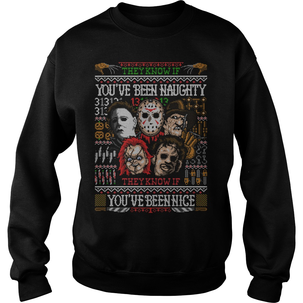 Nightmare They Know If You've Been Naughty You've Been Nice Sweater