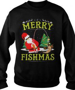 Santa And Fishing Merry Fishmas Sweater