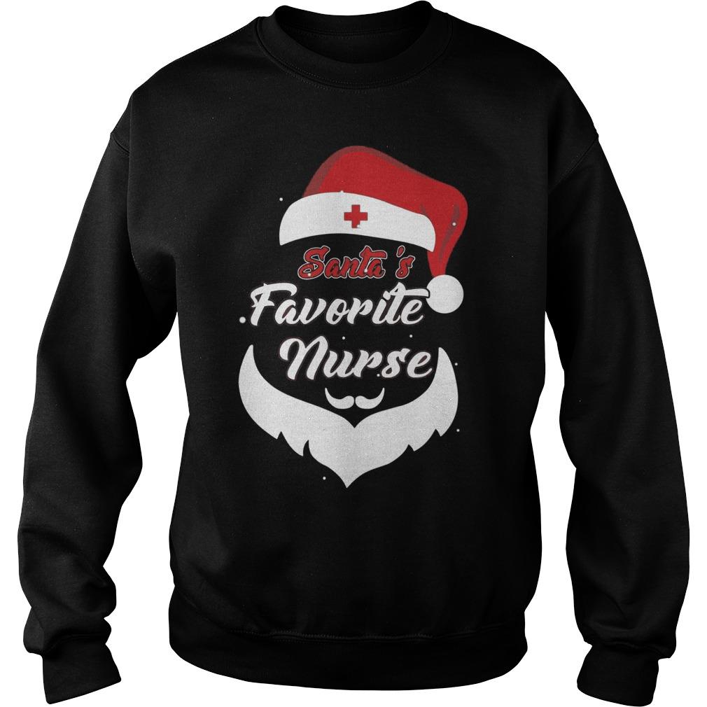 Santa's Favorite Nurse Funny Christmas Nursing Sweater