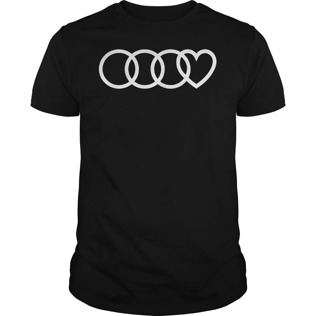 audi heart logo shirt hoodie sweater longsleeve t shirt. Black Bedroom Furniture Sets. Home Design Ideas