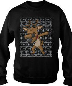 Dabbing Reindeer Ugly Christmas Sweater