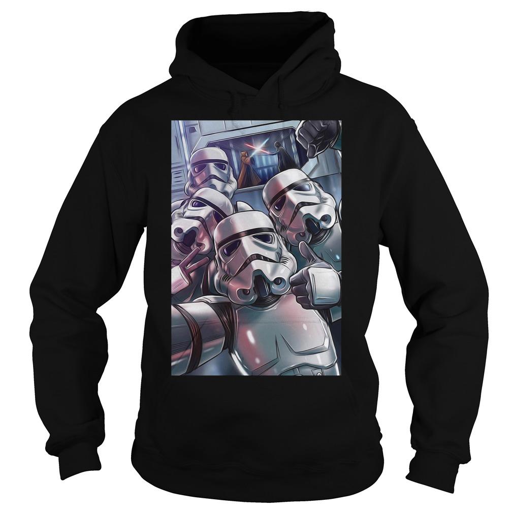 Darth Vader Stormtrooper Selfie Hoodie