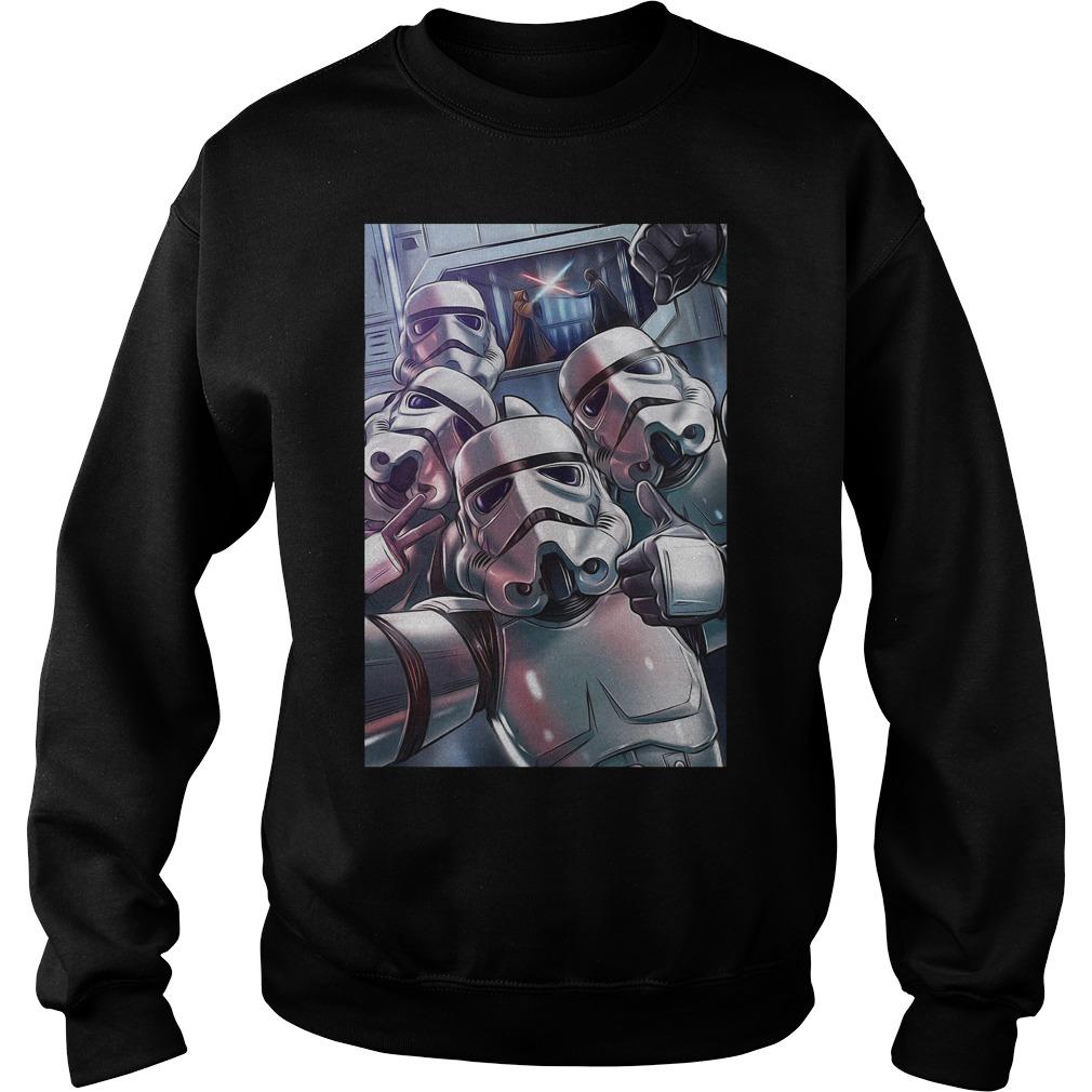 Darth Vader Stormtrooper Selfie Sweatshirt
