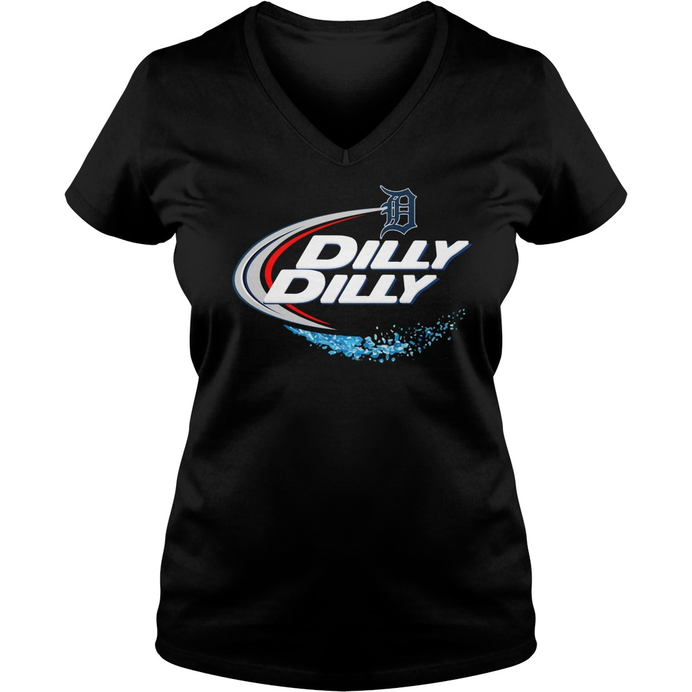 Detroit Tigers Dilly Dilly V Neck
