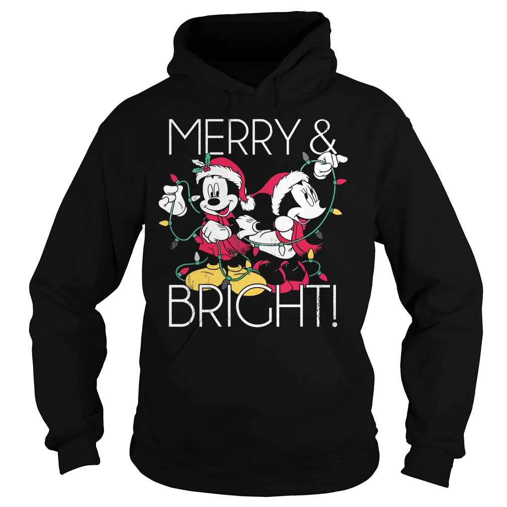 Disney Mickey Mouse Merry Bright Christmas Hoodie