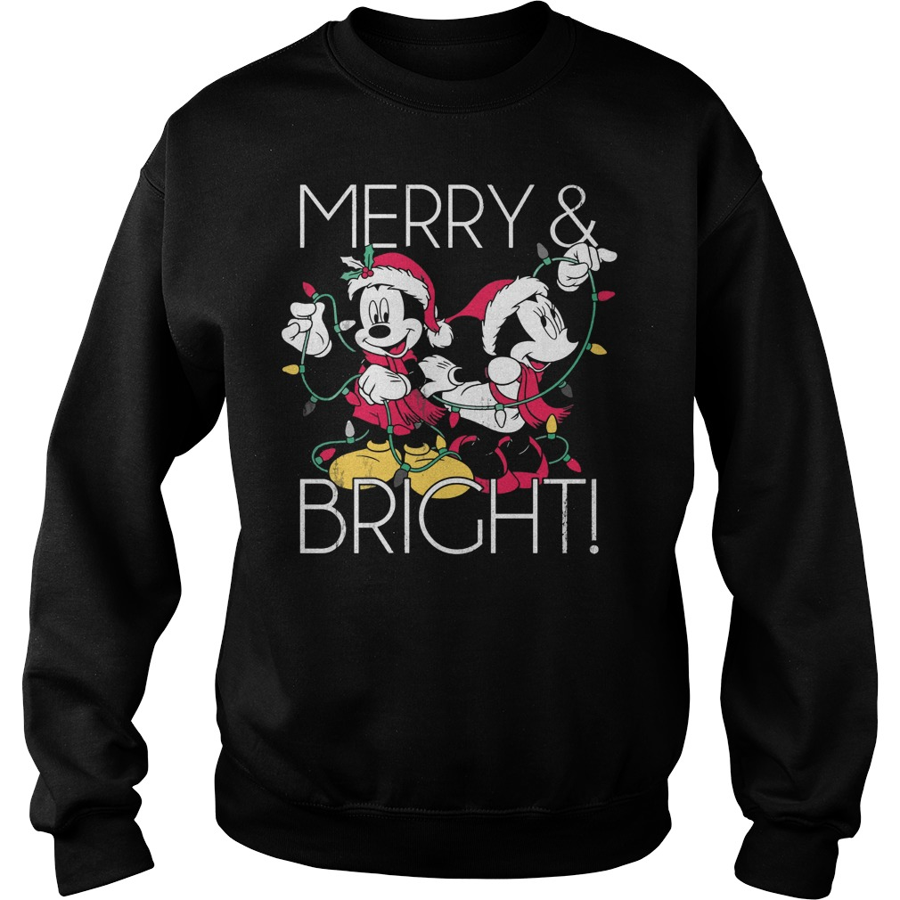 Disney Mickey Mouse Merry Bright Christmas Sweater
