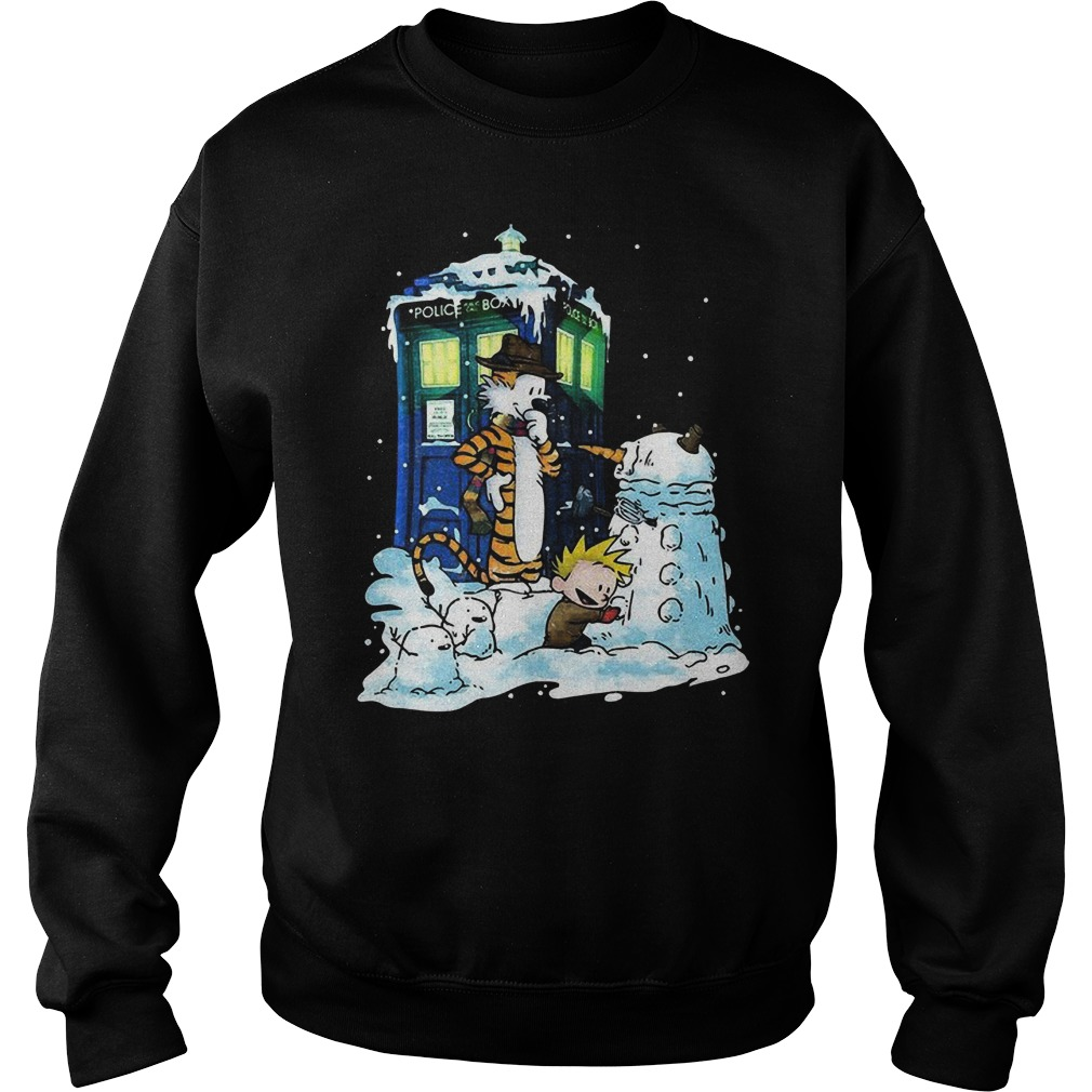Doctor Calvin Hobbes Mashup Doctor Sweat Shirt