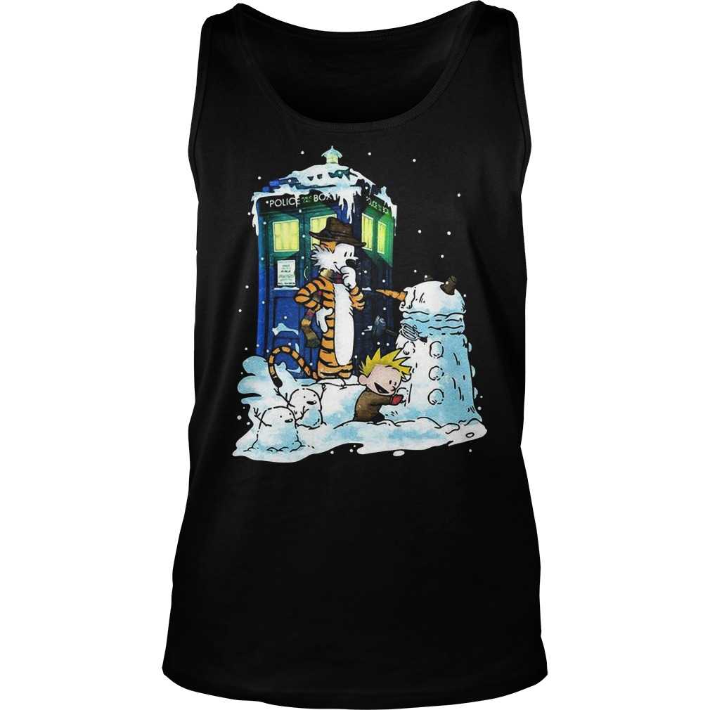 Doctor Calvin Hobbes Mashup Doctor Sweat Tank Top