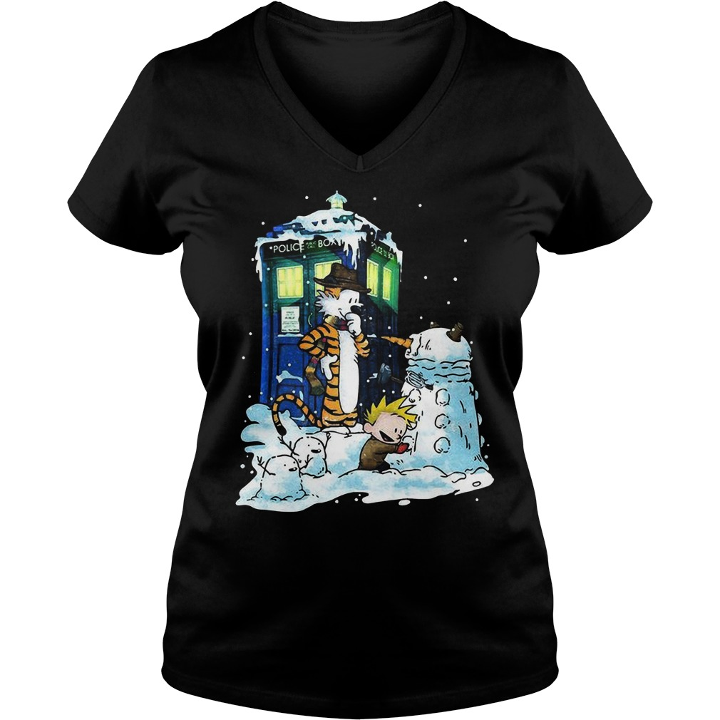 Doctor Calvin Hobbes Mashup Doctor Sweat V Neck