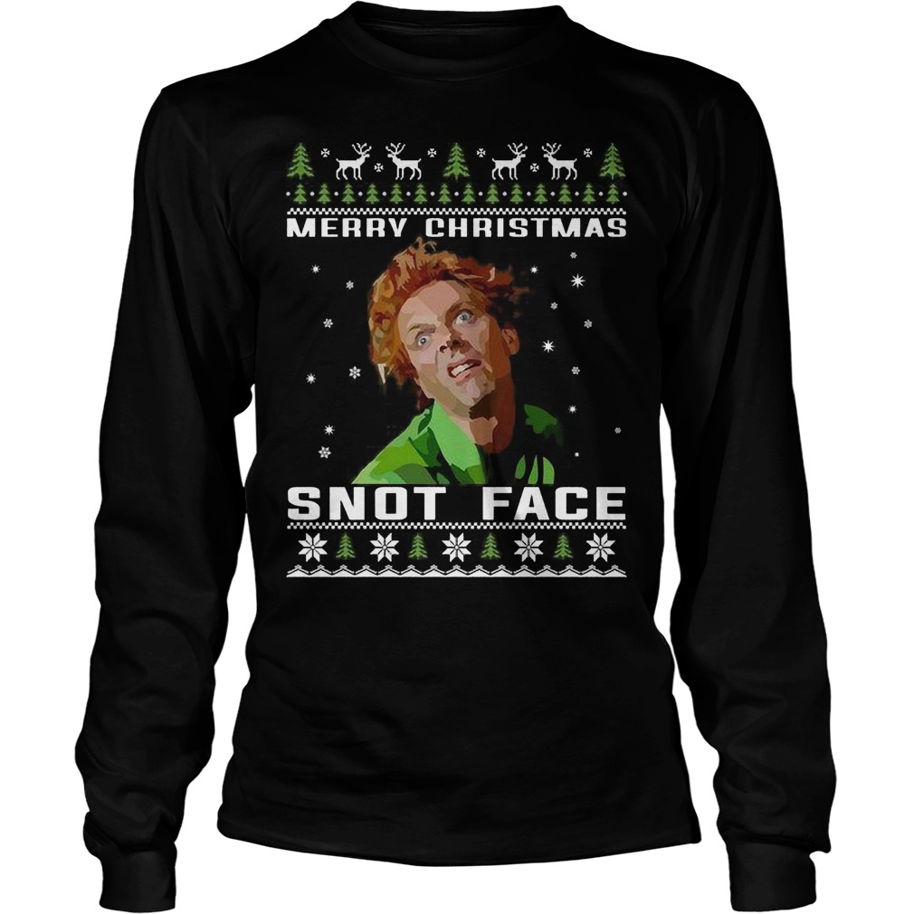 Drop Dead Fred Merry Christmas Snot Face Longsleeve Tee