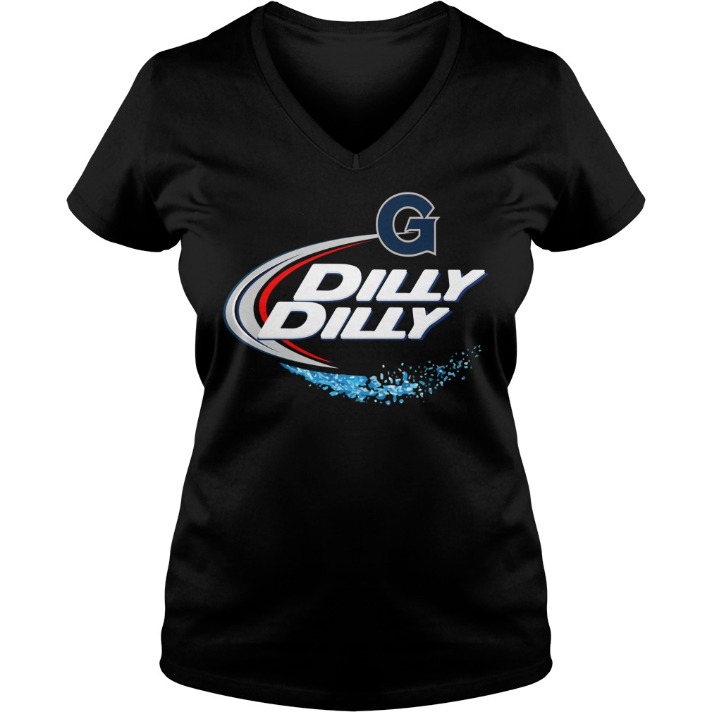 Georgetown Hoyas Dilly Dilly Ladies V Neck