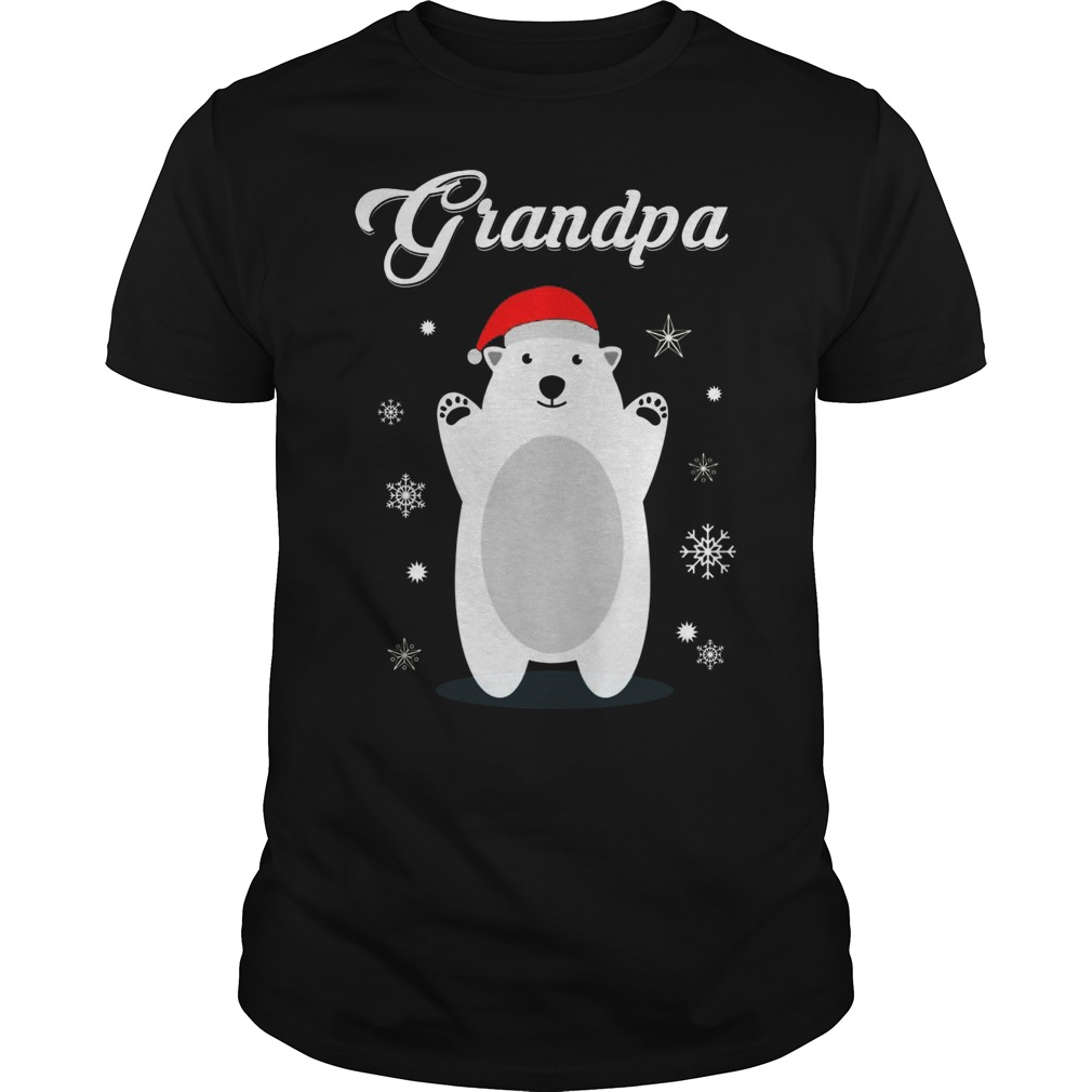 Grandpa Bear Christmas Santa Pajamas Shirt