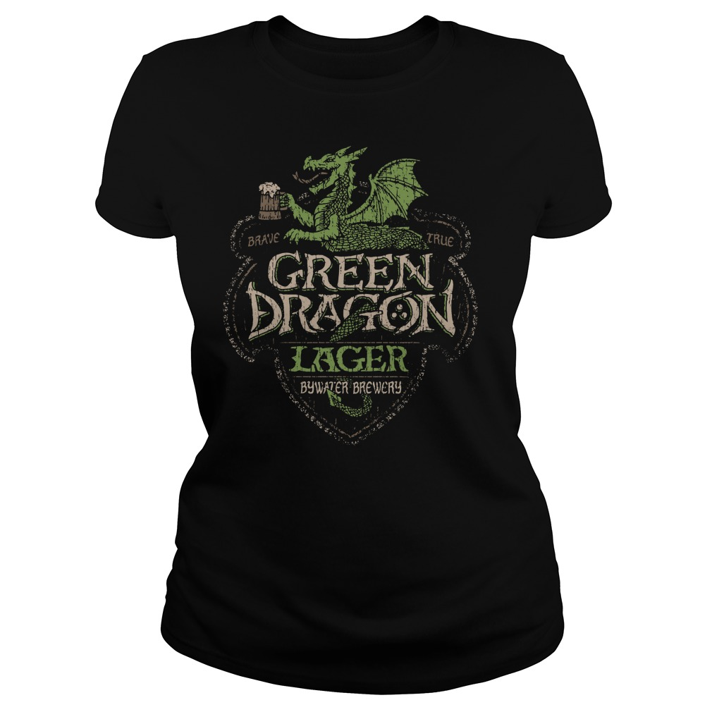Green Dragon Lager Bywater Brewery Ladies Tee