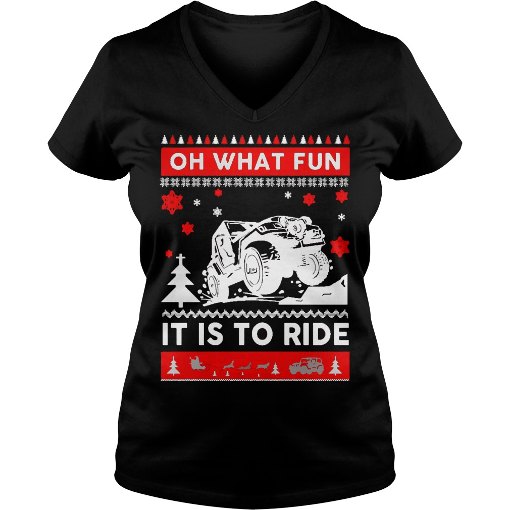 Jeep Sweater Christmas Oh What Fun It Is To Ride Sweater
