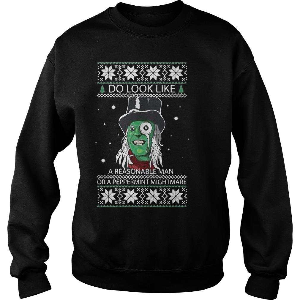 Look Like Reasonable Man Peppermint Mightmare Sweater