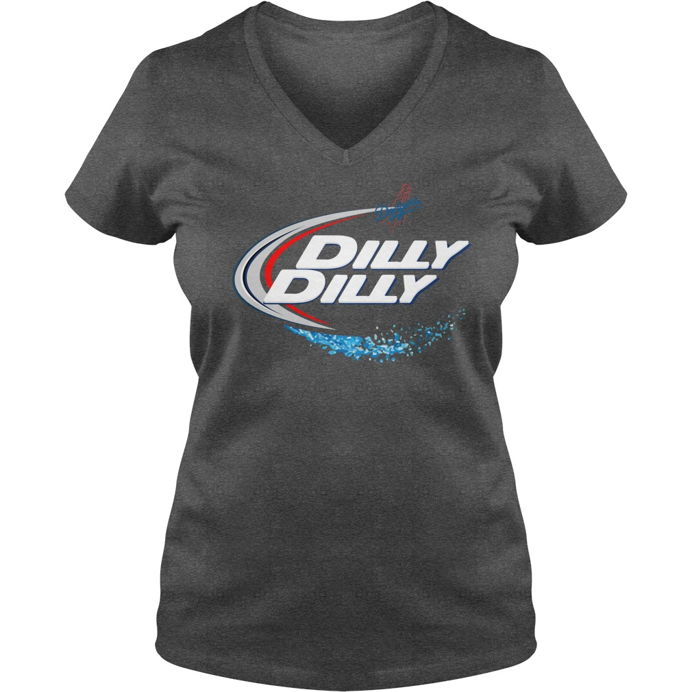 Los Angeles Dodgers Dilly Dilly V Neck