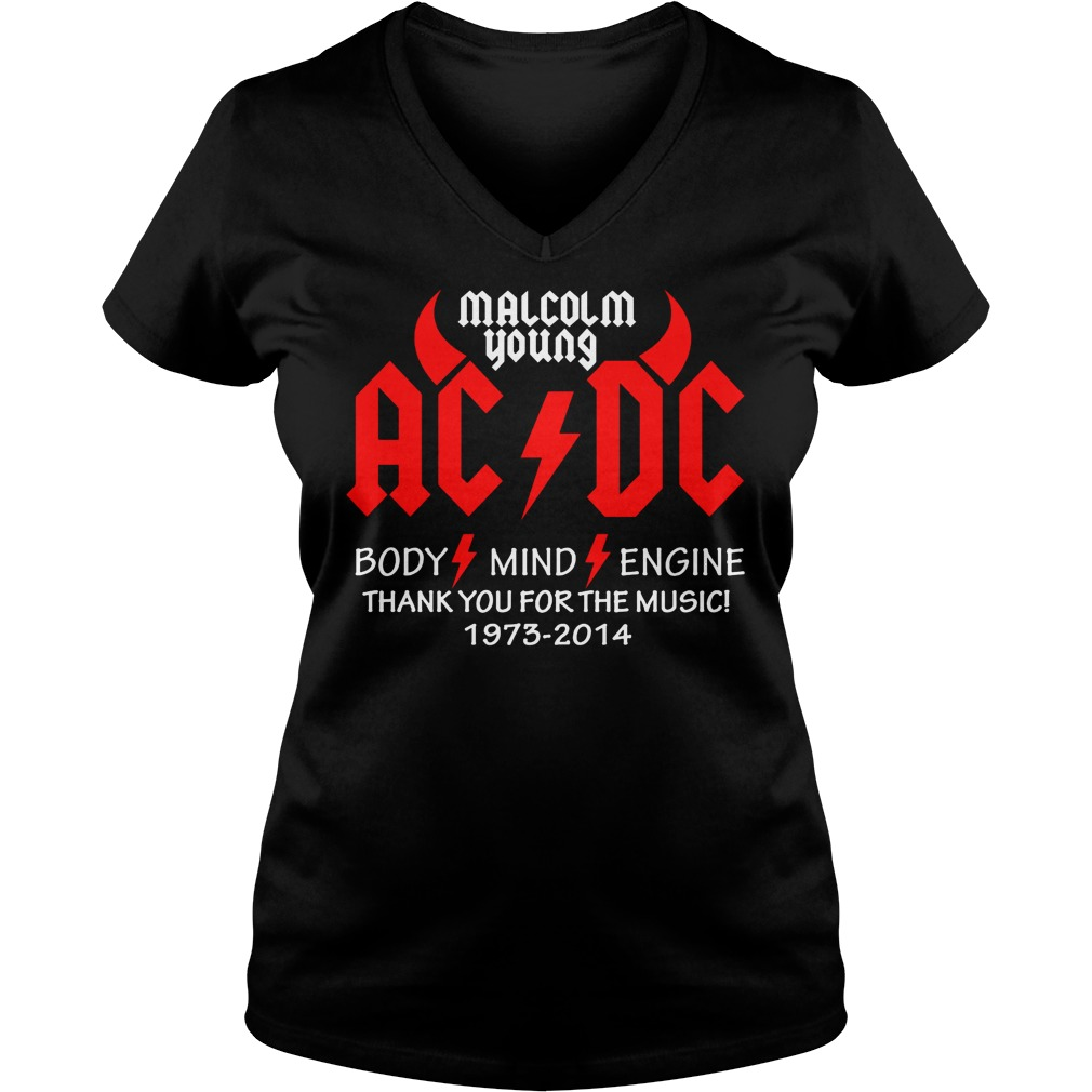 Malcolm Young Ac Dc Body Mind Engine V Neck