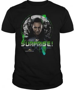 Marvel Thor Ragnarok Loki Surprise Green Pop Shirt