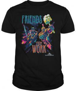 Marvel Thor Ragnarok Working Friends Neon Blast Shirt
