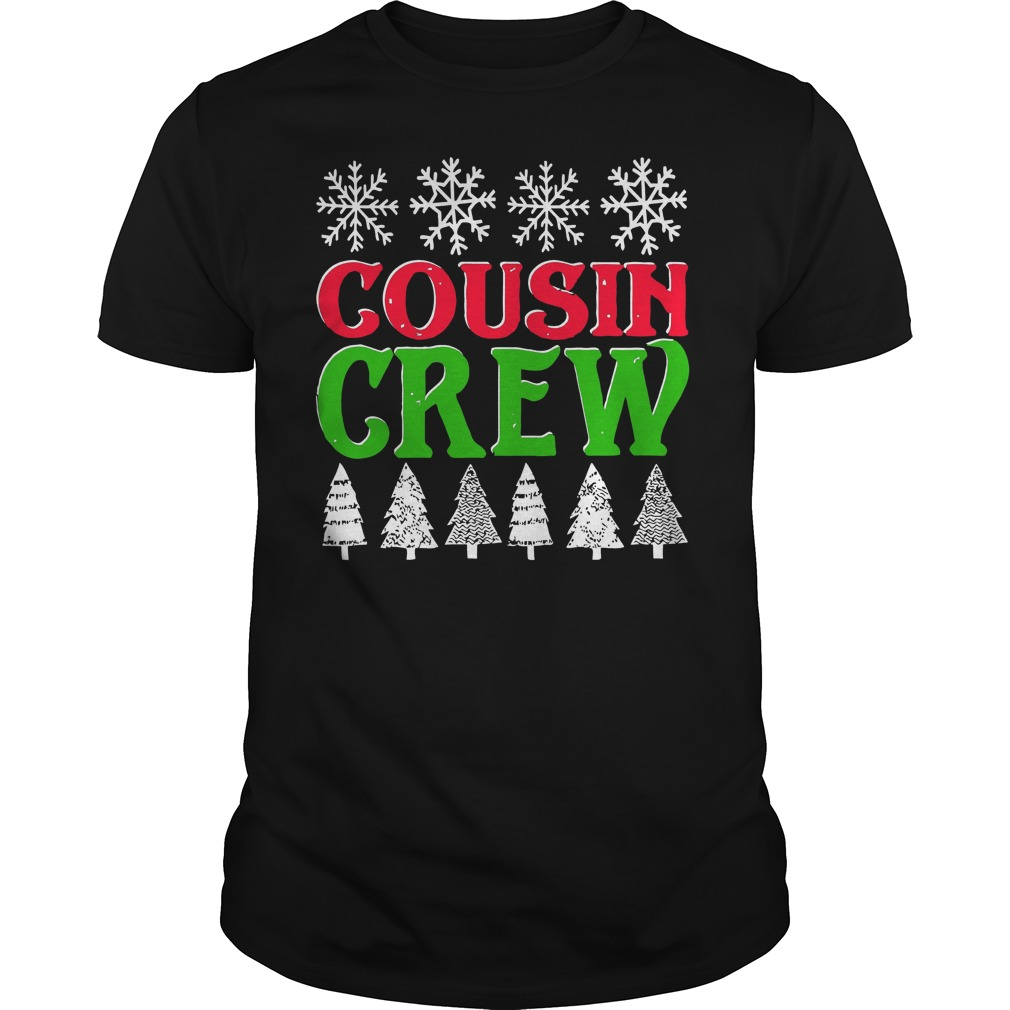 Matching Family Christmas Cousin Crew Guys Tee