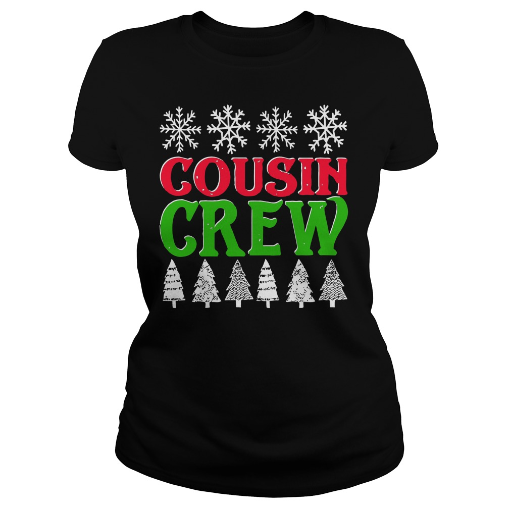 Matching Family Christmas Cousin Crew Ladies Tee