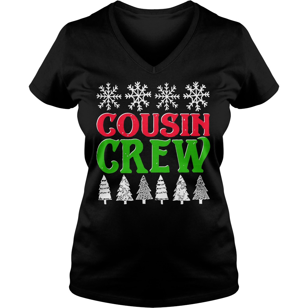 Matching Family Christmas Cousin Crew Ladies V Neck