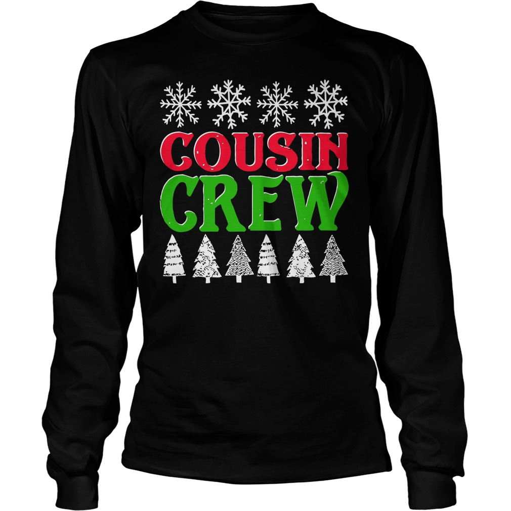 Matching Family Christmas Cousin Crew Unisex Longsleeve Tee