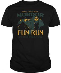 Middle Earth Annual Mordor Fun Run One Not Simply Walk Shirt
