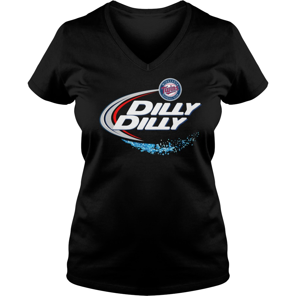Minnesota Twins Dilly Dilly Ladies V Neck