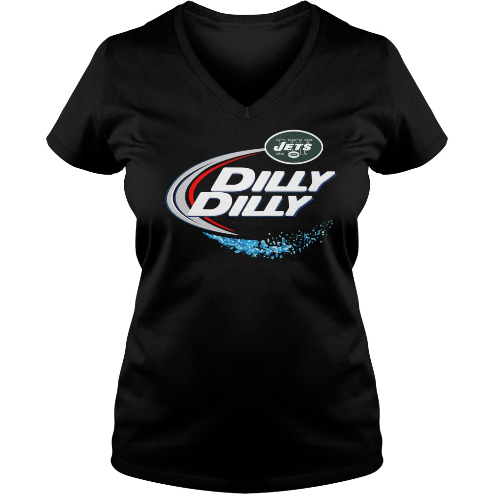 New York Jets Dilly Dilly Ladies V Neck