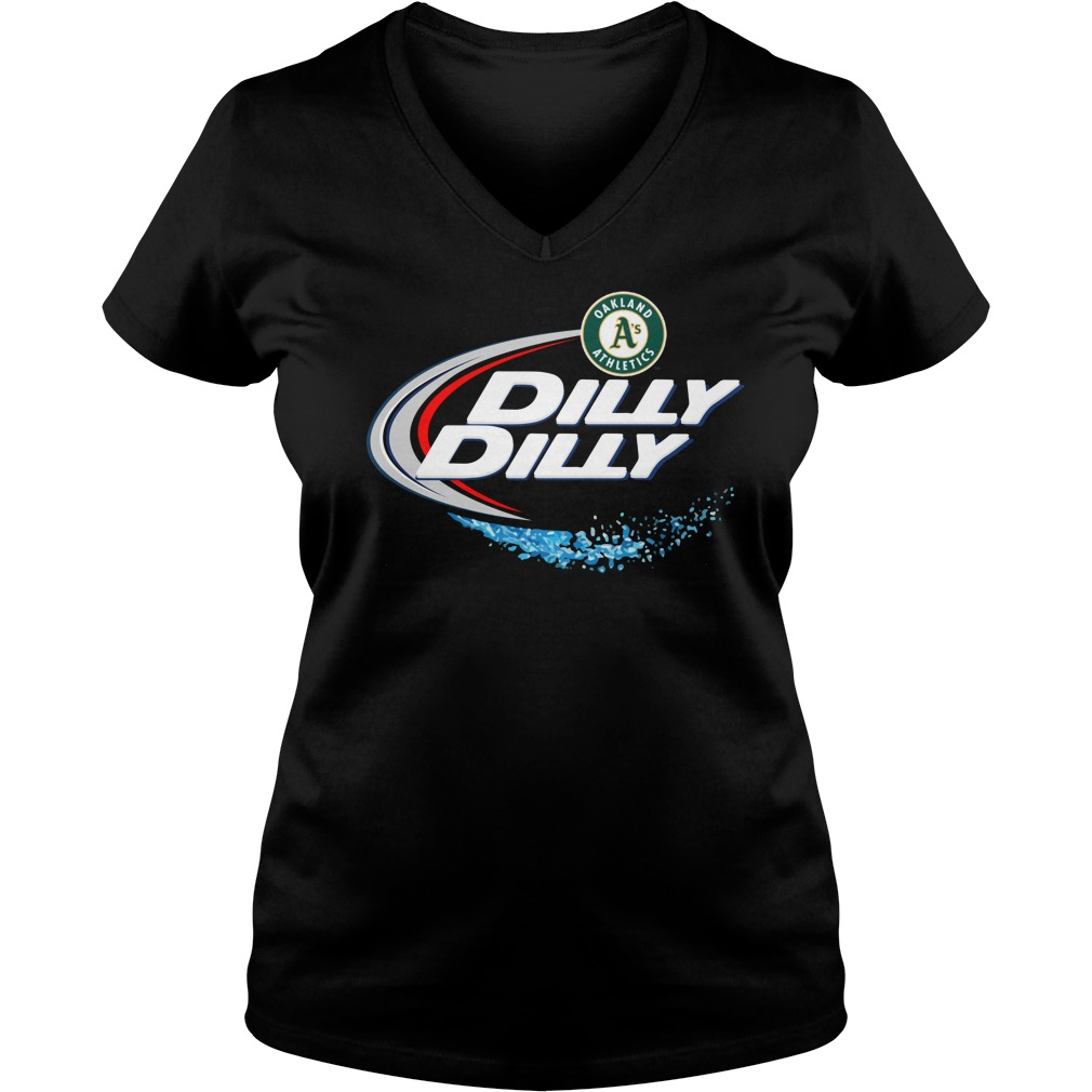 Oakland Athletics Dilly Dilly Ladies V Neck