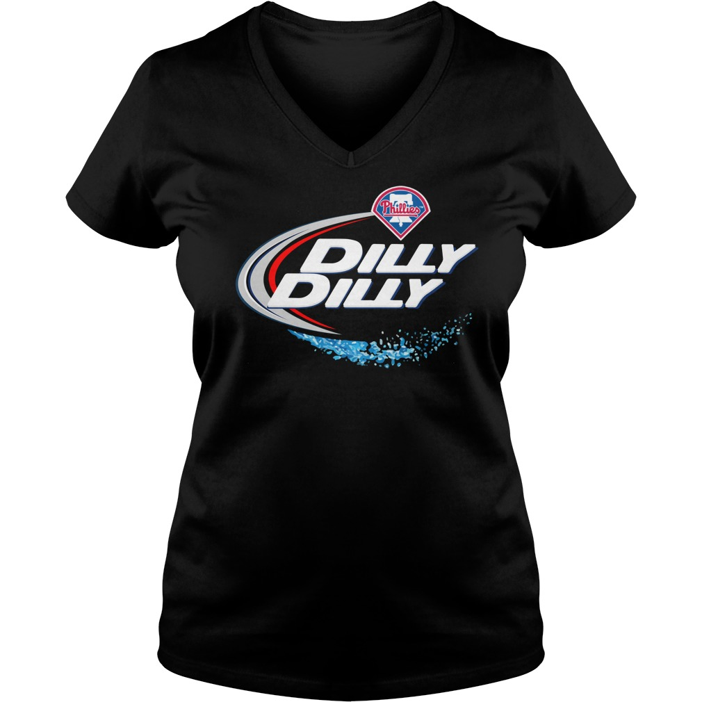 Philadelphia Phillies Dilly Dilly Ladies V Neck